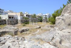 Ancient city ruins Kos, Greece. Ancient city ruins in the islend of Kos, Greece Stock Images