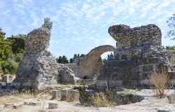 Ancient city ruins Kos, Greece. Ancient city ruins in the islend of Kos, Greece Stock Image