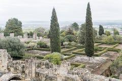 Ancient city ruins of Medina Azahara, Cordoba, Spain.  royalty free stock photography