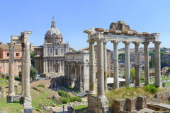 Ancient city ruins of old Rome Stock Photos