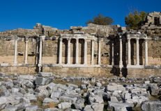 Ancient city ruins in Side, Turkey Stock Photos