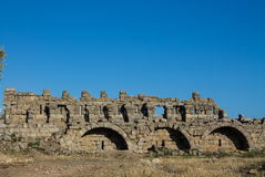 Ancient city ruins in Side, Turkey Royalty Free Stock Photos