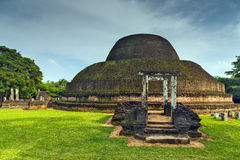 Ancient City ruins stupa in Polonnaruwa city temple Sri Lanka. W Stock Photography