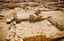 Ancient city ruins - walls, houses, streets. Pithagorio, Samos, Stock Photo