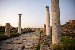 Ancient city of Salamis located in eastern part of Cyprus. Stock Image