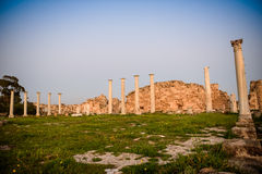 Ancient city of Salamis located in eastern part of Cyprus. Stock Photography
