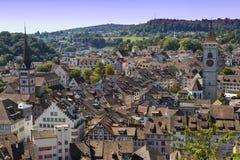 City  Schaffhausen, Switzerland. Historical center. Top view Royalty Free Stock Images