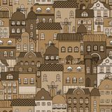 Ancient city seamless pattern Stock Photography