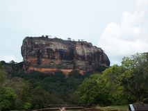 Ancient City of Sigiriya, Ceylon. Sigiriya Lion Rock is an ancient rock fortress located near the town of Dambulla in the Sri Lanka. The site was selected by royalty free stock images