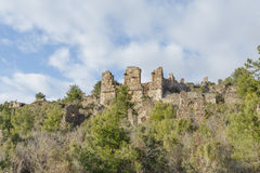 Ancient city of Syedra in Alanya province of Turkey Royalty Free Stock Images