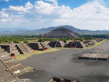 Ancient city of Teotihuacan in Mexico. View of the ancient city of Teotihuacan in Mexico Royalty Free Stock Photo