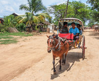 Ancient city tour by horse carriage, Mandalay, Myanmar 1 Royalty Free Stock Image