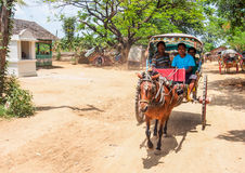 Ancient city tour by horse carriage, Mandalay, Myanmar 6 Royalty Free Stock Photography