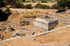 Ancient city of Troy. Ruins at ancient city of Troy in Turkey Stock Image