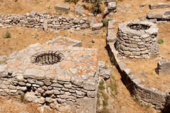Ancient city of Troy. Ruins at ancient city of Troy in Turkey Stock Photo