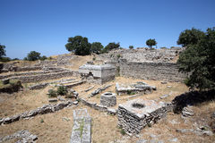 Ancient City of Troy. In Canakkale Turkey Royalty Free Stock Image