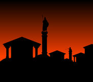 Ancient city. Vector illustration for design Royalty Free Stock Photo