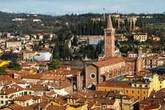Ancient city Verona aerial view Stock Photos