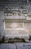 Ancient city wall base royalty free stock image
