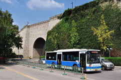 Ancient city wall. This is China's ancient city wall of Ming dynasty in nanjing, the gate of the arch, assembled into a tall stone walls. From built to now, has Stock Photos