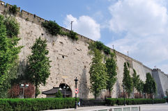 Ancient city wall. This is China's ancient city wall of Ming dynasty in nanjing, the gate of the arch, assembled into a tall stone walls. From built to now, has Stock Image