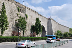 Ancient city wall. This is China's ancient city wall of Ming dynasty in nanjing, the gate of the arch, assembled into a tall stone walls. From built to now, has Royalty Free Stock Photography