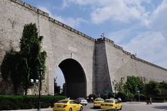 Ancient city wall. This is China's ancient city wall of Ming dynasty in nanjing, the gate of the arch, assembled into a tall stone walls. From built to now, has Royalty Free Stock Images