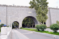 Ancient city wall. This is China's ancient city wall of Ming dynasty in nanjing, the gate of the arch, assembled into a tall stone walls. From built to now, has Royalty Free Stock Photo