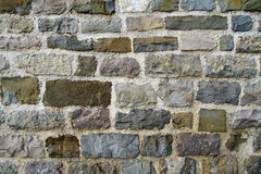 Ancient city wall of colored bricks Royalty Free Stock Photography