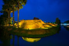 Ancient city wall corners of Chiang mai Thailand Stock Photography