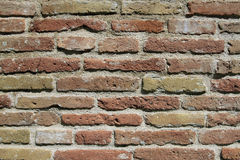 Ancient city wall of fine red brick Stock Photography
