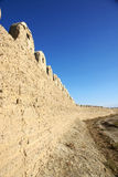 Ancient city wall in jiayu pass royalty free stock images