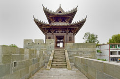 The ancient city wall in Langzhong Royalty Free Stock Images