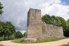 Ancient City Wall Of Montemonaco, Ascoli Piceno Stock Image