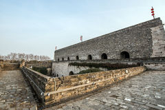 Ancient city wall, Nanjing, China Royalty Free Stock Photo