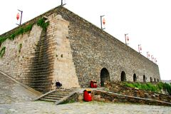 The Ancient City wall of Nanjing royalty free stock images