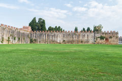 Ancient city wall of pisa. Italy in summer day Royalty Free Stock Images