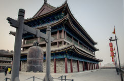 Ancient city wall in the tang dynasty of China city in Shanxi Province Royalty Free Stock Images