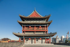 The ancient city wall of xi an Royalty Free Stock Image