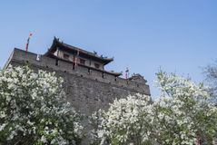 The ancient city wall of xi an Stock Photo