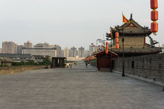 Ancient city wall of Xi'an, Shaanxi Province, China Stock Photo