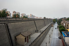 Ancient city wall of Xi'an, Shaanxi Province, China Royalty Free Stock Photography