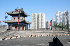 Ancient city wall of Xian, China Royalty Free Stock Photography