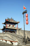 Ancient city wall of Xian, China royalty free stock images