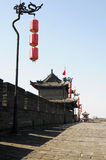 Ancient city wall of Xian, China royalty free stock photo
