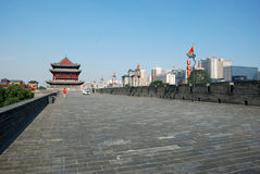 Ancient city wall in xian Stock Images