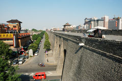 Ancient city wall in xian Royalty Free Stock Images