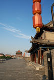 Ancient city wall in xian Royalty Free Stock Photo