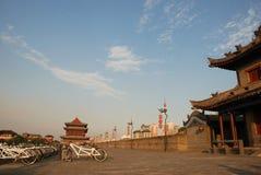 Ancient city wall in xian Stock Photos