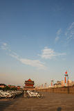 Ancient city wall in xian Stock Photography